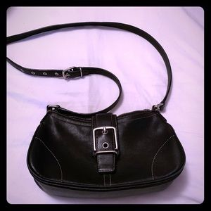 Coach Vintage Crossbody Black Leather Purse  7540